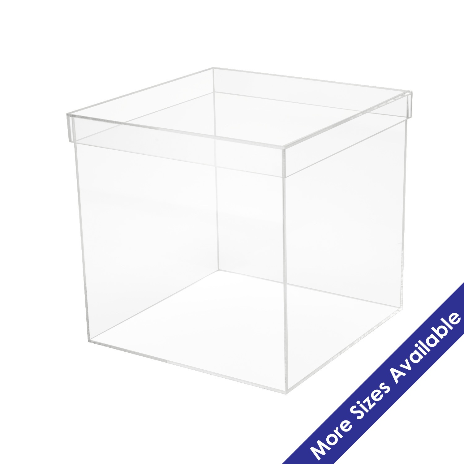 Acrylic 5 Sided Box W Shoebox Lid