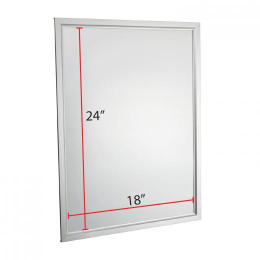 18 x 24 slide in poster frame silver