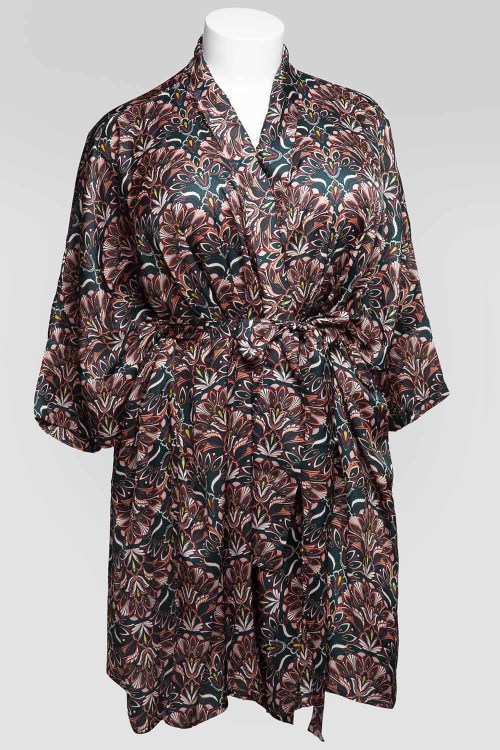 Sablier Everglade Print Short Robe