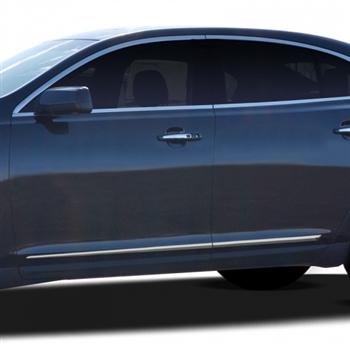 Lincoln MKS Chrome Lower Door Moldings 2014 2015 2016