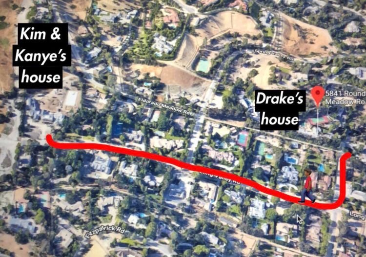 Kim Kardashian House Kanye House Drake House