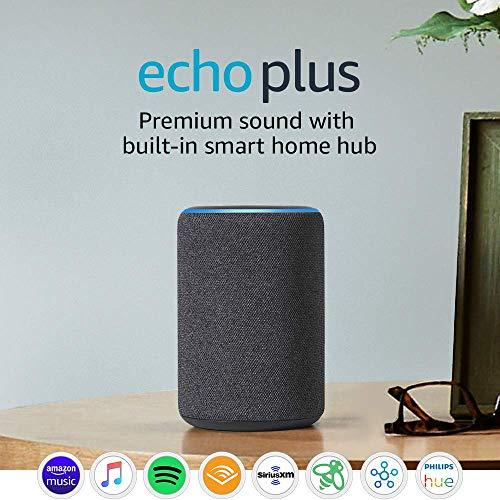 Certified Refurbished  Echo Plus (2nd Gen) – Premium sound with built-in smart home hub – Dark Charcoal