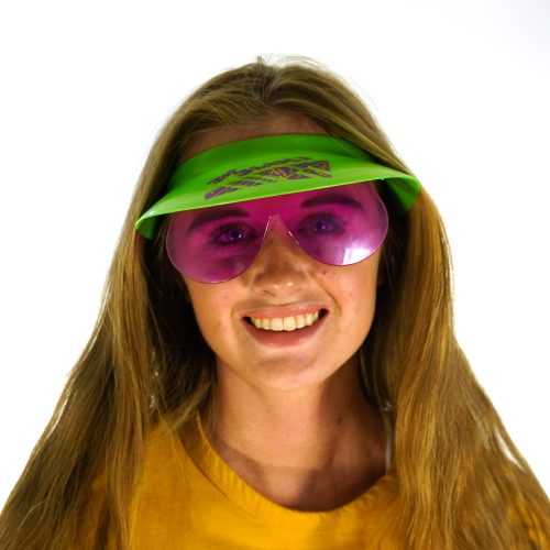 Crazy Visor with Attached Sunglasses