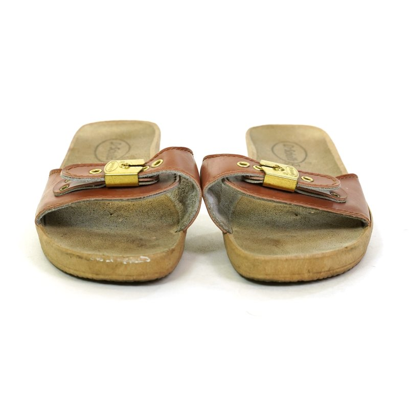 Dr Scholl's Brown Leather Sandals