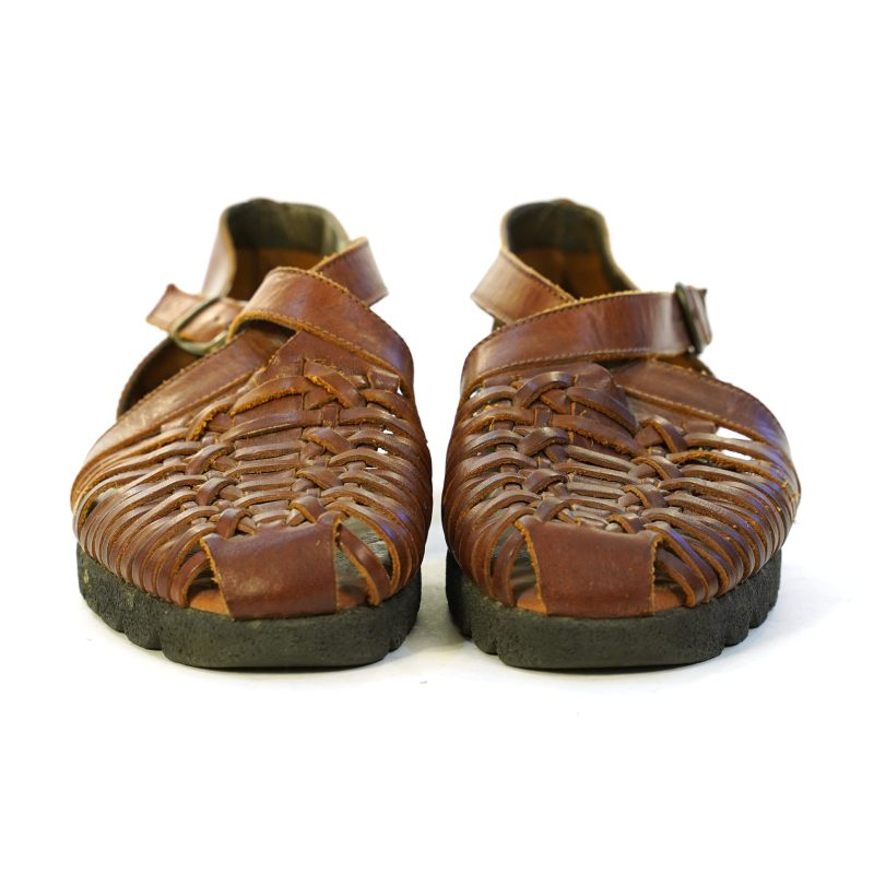 Brown Leather Fisherman Sandals Size 10