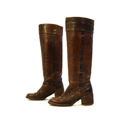 Remarkable Vintage 70s Frye Cowgirl Boots Size 7