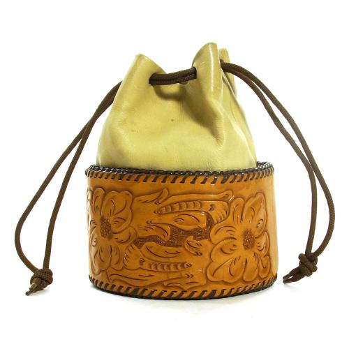 Handmade Boho Tooled Leather Purse