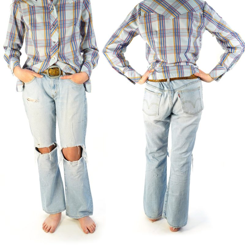 """Faded and Torn Levi's 515 32"""" Waist"""