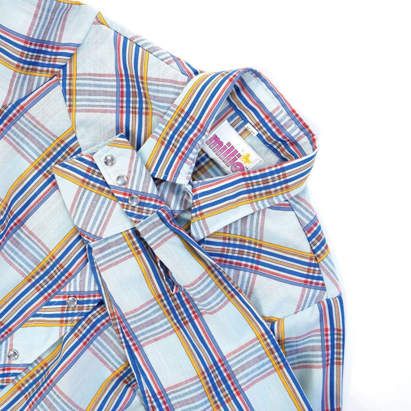 Vintage 70s Pearl Snap Western Shirt Unisex 35 Chest