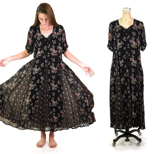 Starina Floral Rayon Maxi Dress