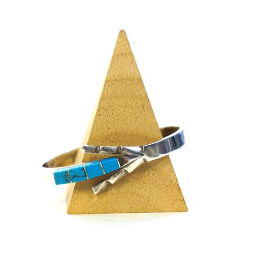 Silver and Turquose Hinged Arrow Bracelet