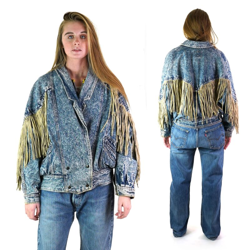 80s Fringed Denim Jacket