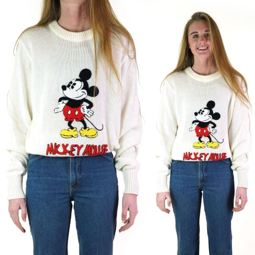 vintage mickey mouse sweater women's large