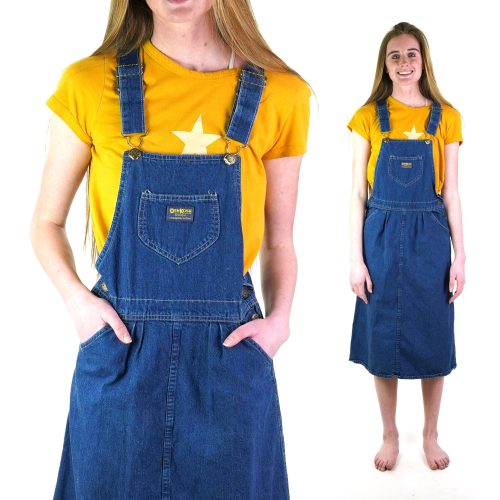 Osh Kosh Overalls Dress Vintage 80s Size Small