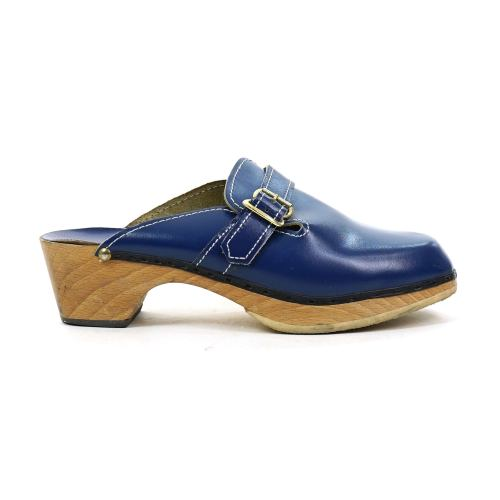 Swedish Clogs in Blue Leather