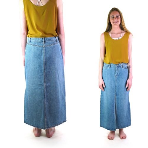 Vintage 2000s Gap Maxi Denim Skirt Size 4
