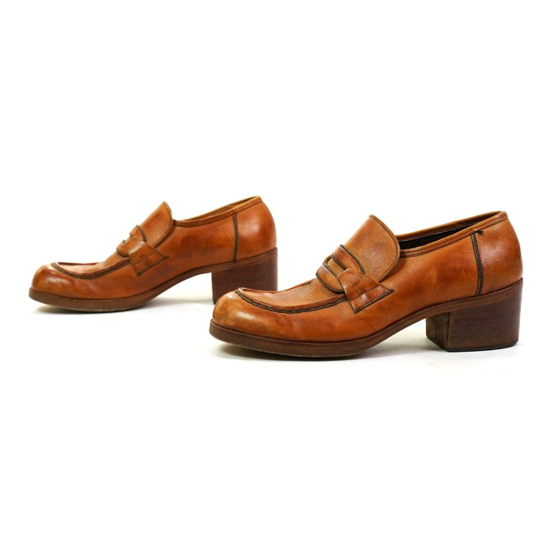Mod Leather Loafers Vintage 60s