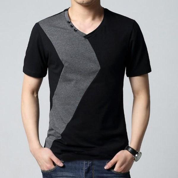 17 Designs Mens T Shirt Slim Fit Crew Neck T-shirt Men ...