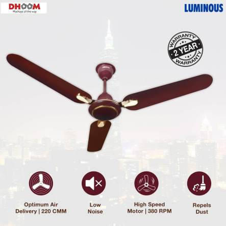 Best Ceiling Fans in India - Luminous Dhoom