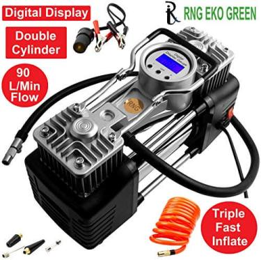 RNG EKO Green air compressor - Best Air Pump for Car in India