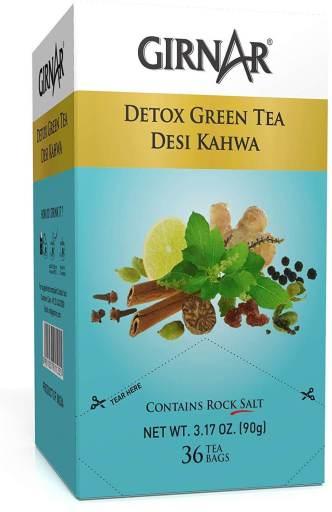 Girnar Detox green tea = Best Green Tea in India
