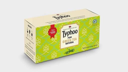 Typhoo pure natural green tea - Best Green Tea in India