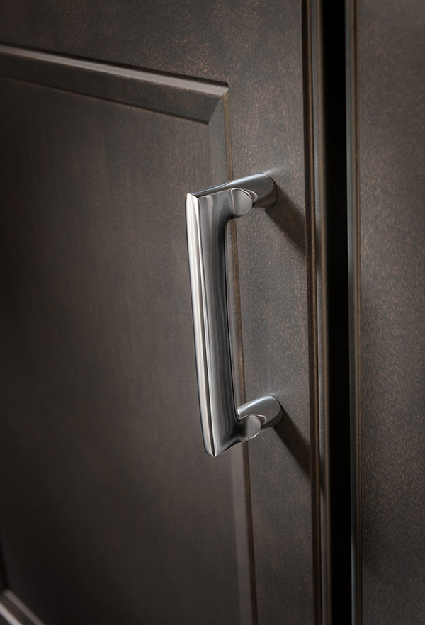 Handles Nickel Curved Cabinet Brushed