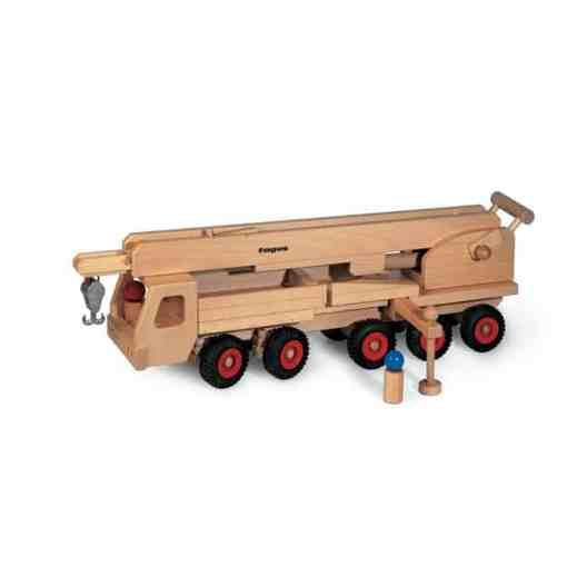 Kran, Mobilkran aus Holz - Spielzeugfahrezeuge von fagus auf www.ShopWieMelly.at - fagus kaufen bei Shop Wie Melly Österreich