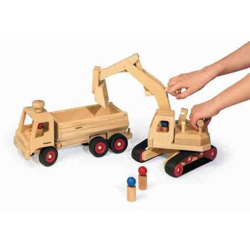 Bagger aus Holz - fagus - Shop Wie Melly - www.ShopWieMelly.at - Holzspielsachen