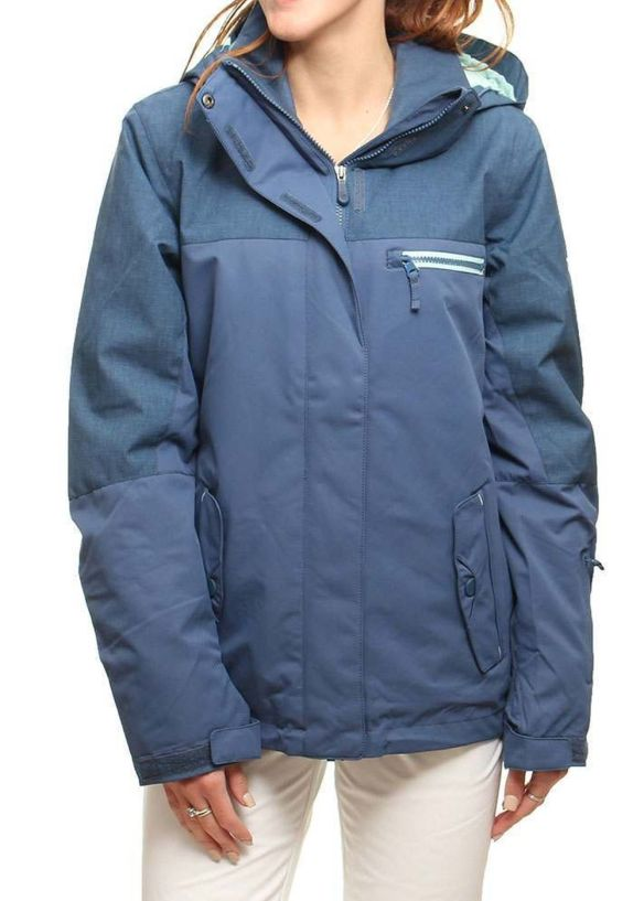 ROXY JETTY SOLID SNOW JACKET Ensign Blue