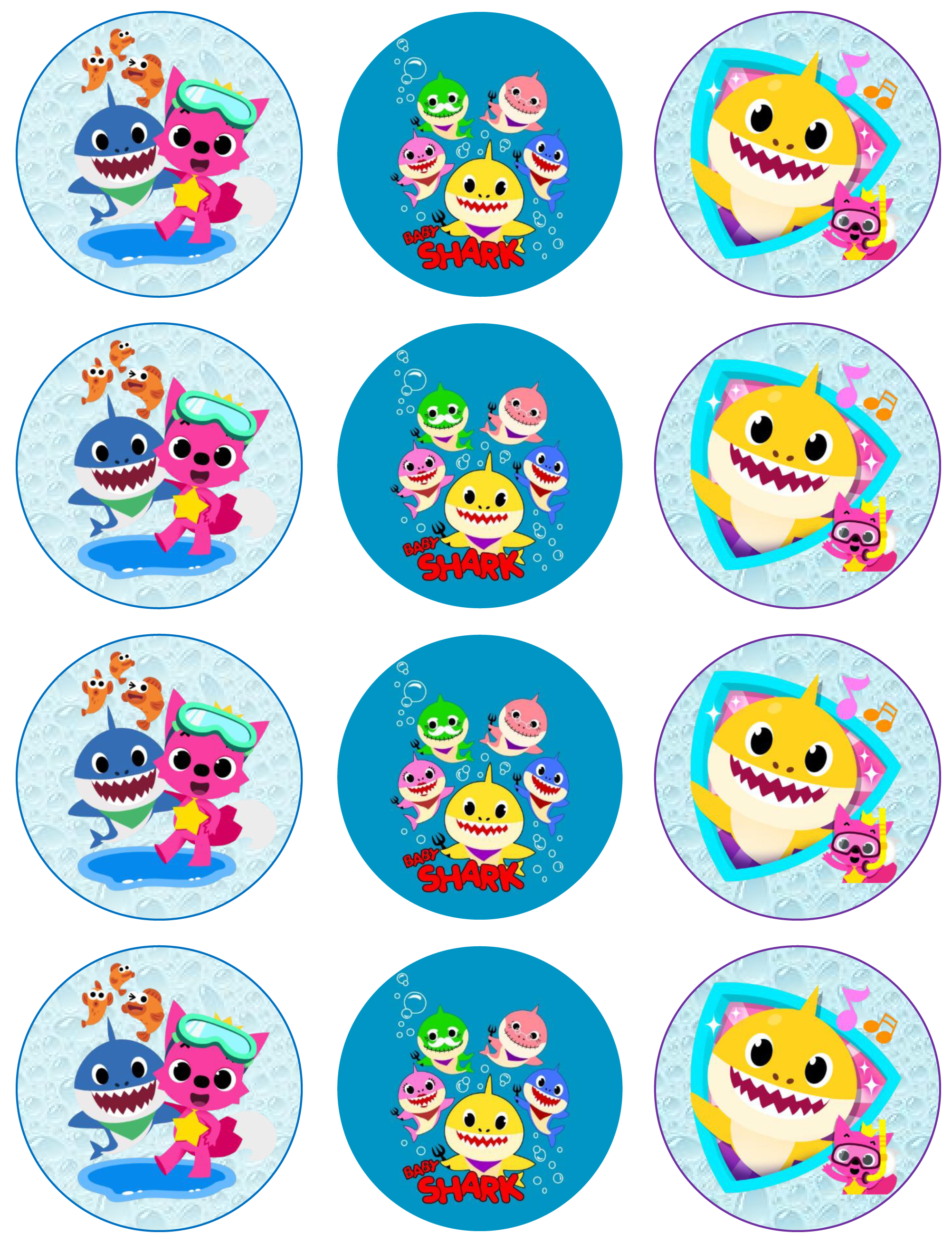 Baby Shark Edible Images