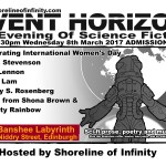 Event Horizon – Women in Science Fiction – International Women's Day 8th March 2017