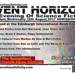 Shoreline of Infinity Event Horizon  – Unbound at the Edinburgh International Book Festival 16th August
