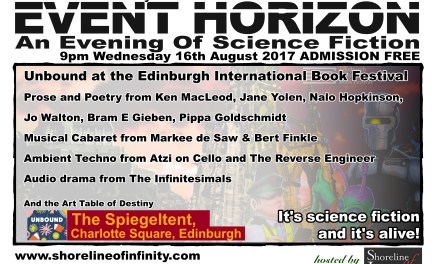 Shoreline of Infinity Event Horizon  – Unbound at the Edinburgh International Book Festival 16th August