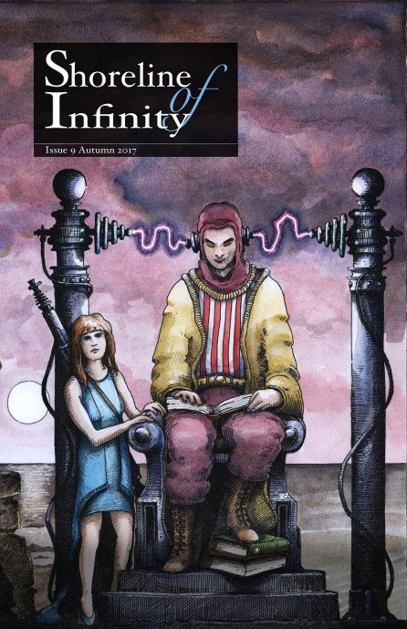Shoreline of Infinity 9 science fiction magazine - the cover