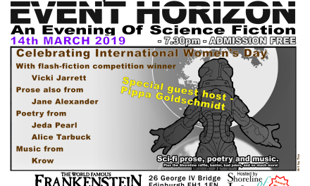 Shoreline of Infinity Event Horizon – Thursday 14th March 2019