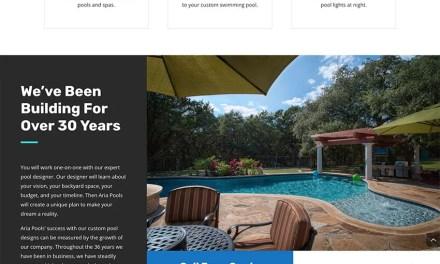 Website Build for Aria Pools