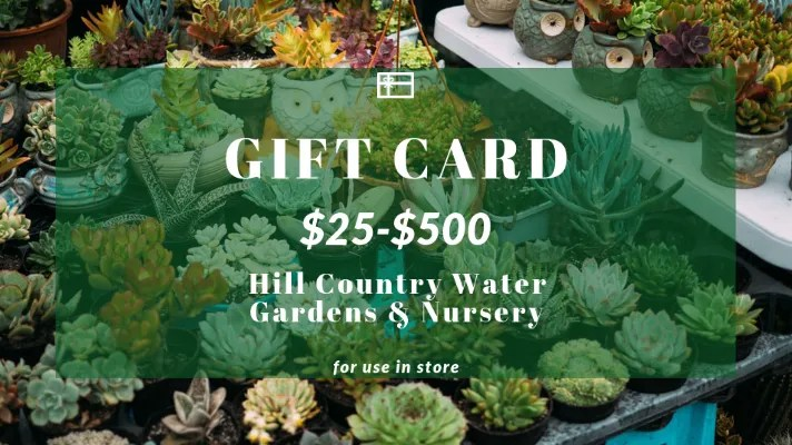 Online Curbside Delivery and Gift Card Solution for Hill Country Water Gardens