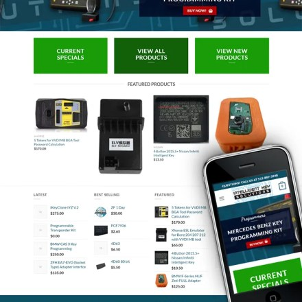 Ecommerce Site for Intelligent Key Solutions