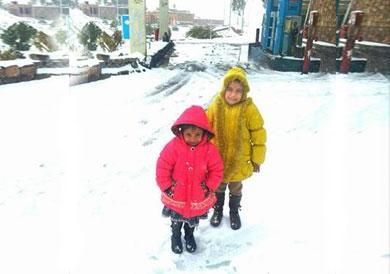 الثلوج تزين مدينة سانت كاترين