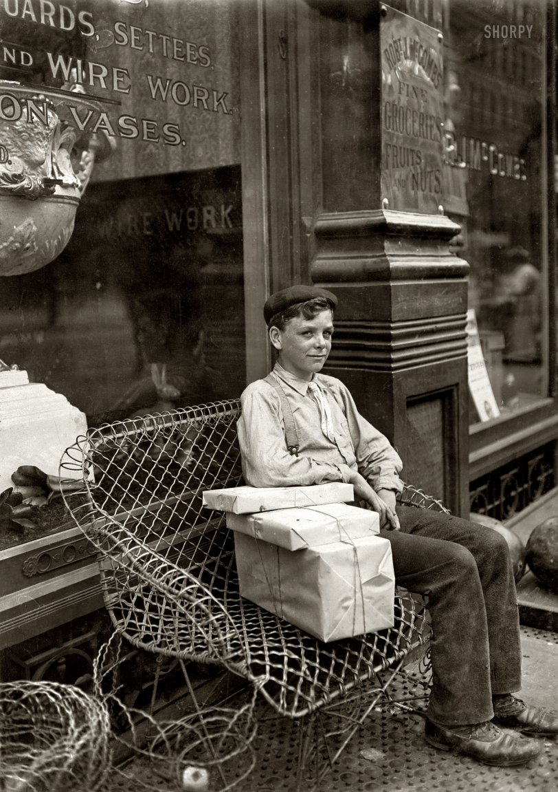 delivery boy resting in Newport, Kentucky