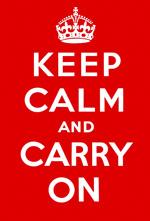Gardez l'affiche calme et continue