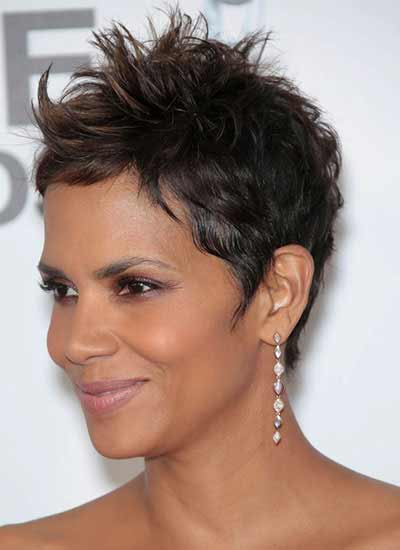 Halle Berry With Gamine Haircut
