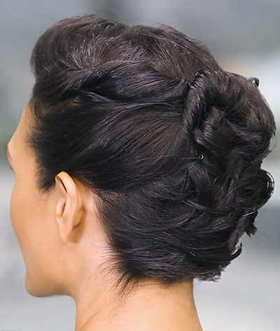 Gorgeous And Simple Twist Back Updo