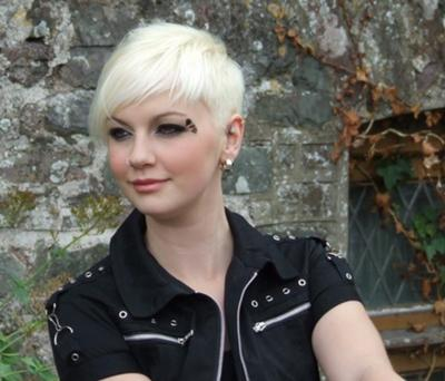 cosmetic trendy blonde white short haircuts