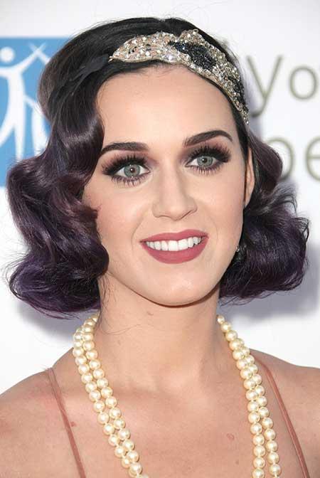Katy Perry Wavy Bob Haircut