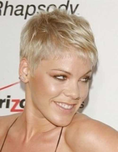 Pink - Cute Very Short Pixie Cut