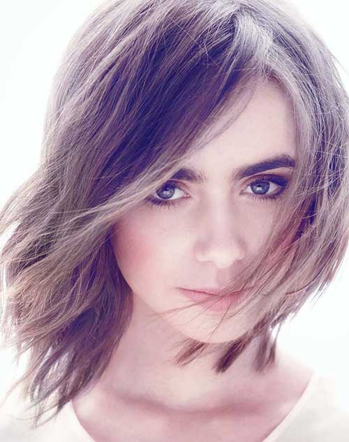Lily Collins Dramatic Hair