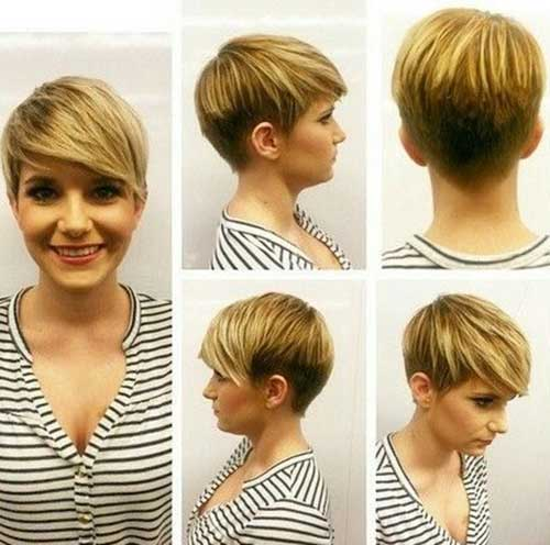 Trendy Short Haircut for Round Face
