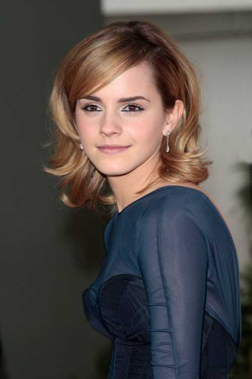 Emma Watson Cute Bob Cut Short Shoulder Length Haircut